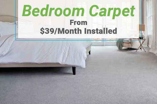 Bedroom Carpet from $39/month installed at Erskine Interiors