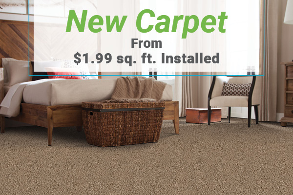 New Carpet from $1.99 sq.ft. installed at Erskine Interiors