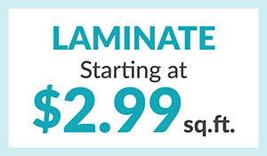 Laminate starting at $2.99 sq.ft. during the Home for the Holidays flooring sale at Erskine Interiors!