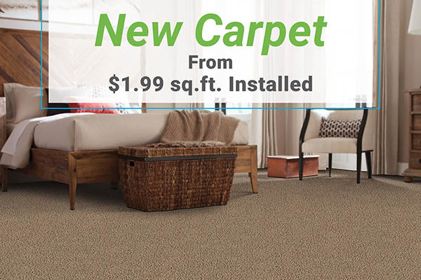 New carpet from $1.99 sq.ft. installed at Erskine Interiors!