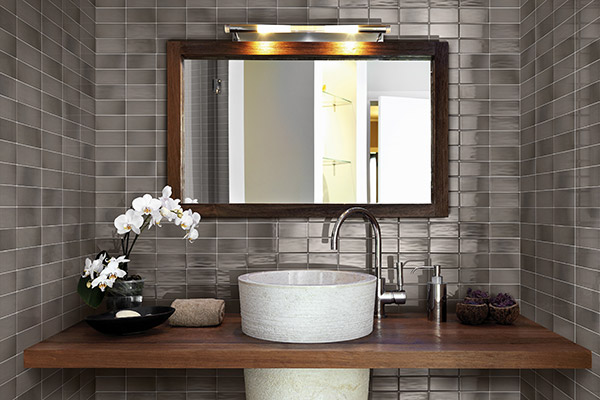Tile used for backsplash - RETROCLASSIQUE_PEWTER